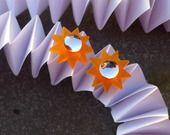 Boucles d'oreilles soleil : Boucles d'oreille par les-bijoux-d-elisabeth
