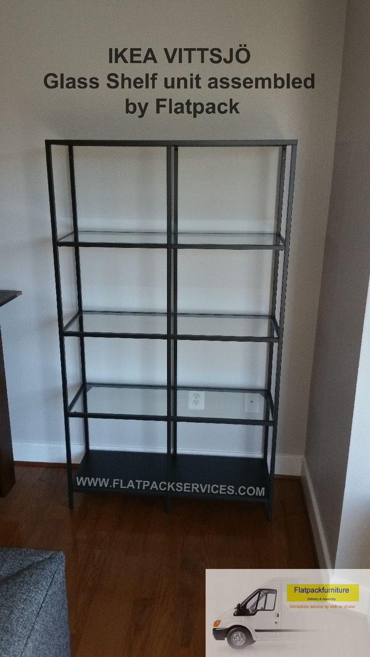 IKEA Vittsjo Shelving Unit Assembled By Flatpack Assembly In NW DC  Www.flatpackservices.com