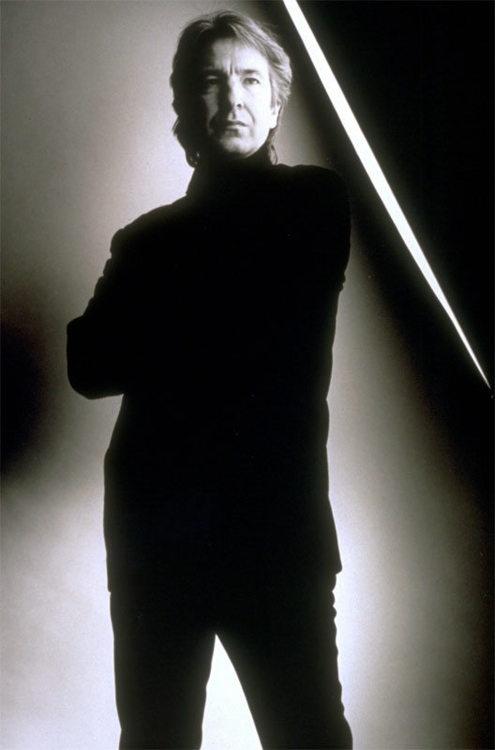 Alan Rickman. Love the black & white photos.