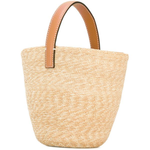 Ermanno Scervino straw basket tote ($1,200) ❤ liked on Polyvore featuring bags, handbags, tote bags, handbags totes, beige tote handbags, straw tote, straw handbags and beige purse