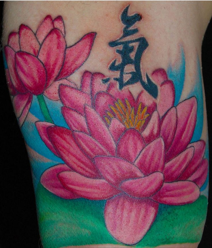 japanese flower tattoos | Flower Tattoo Designs: Elegant Collection Colorful Louts Flower Tattoo ...