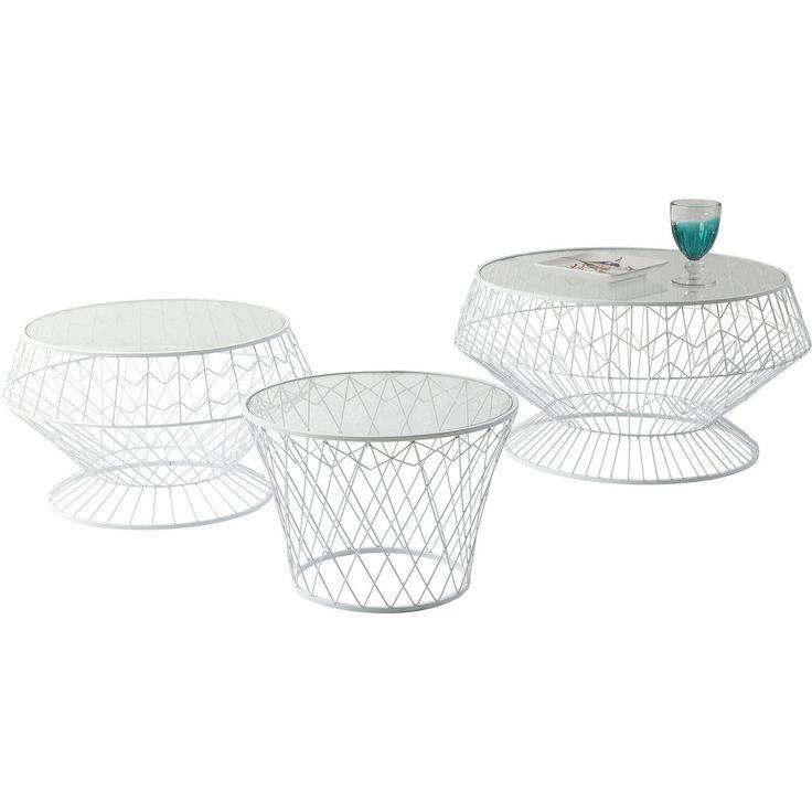 Beistelltisch Wire White (3/Set) - Tische - KARE Design