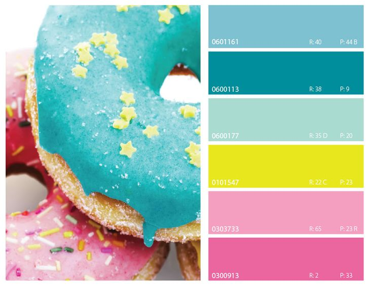 Pink Yellow Blue Color Trends 2017 Palette Schemes Couleur Inspiration