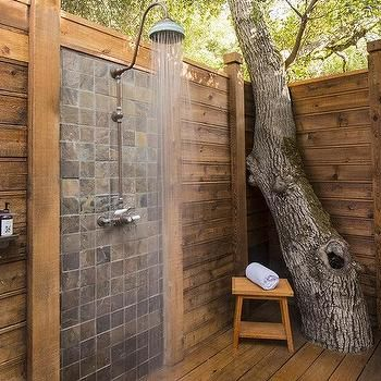 Outdoor Shower   Design Photos, Ideas And Inspiration. Amazing Gallery Of  Interior Design And Decorating Ideas Of Outdoor Shower In Home Exteriors,  ...