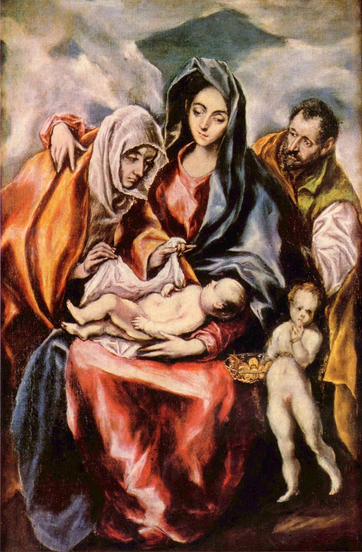 The Holy Family with St. Anne and the Young St. John the Baptist - El Greco