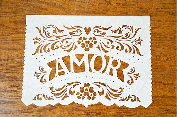 DIY Papel Picado Banner Tutorial - cute for wedding decor
