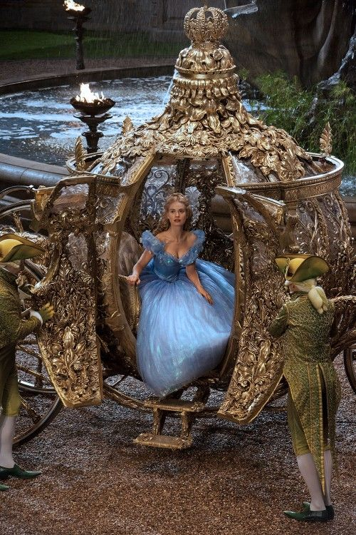 First look at Lily James as Cinderella