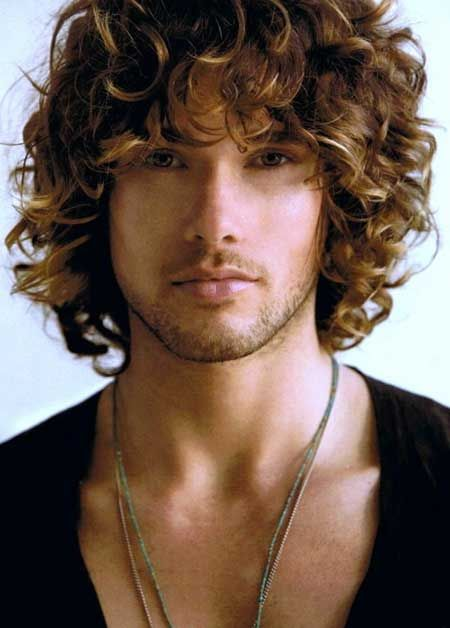 Mens Curly Hairstyles Leaozinho Pinterest Curly Hair Styles