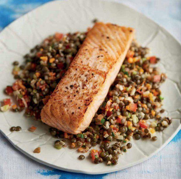 Grilovaný losos s italskou čočkou  Foto: