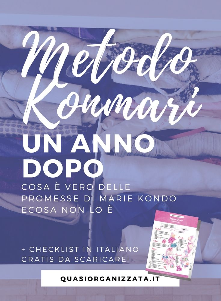 Marie Kondo | metodo konmari | checklist gratuita | decluttering