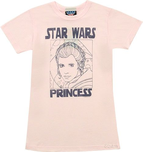 Junk Food Star Wars Princess Ladies T-Shirt from Junk Food A special treat for all us ladies who were fans of Star Wars too, this gorgeous, pale pink T-Shirt from hot LA label, Junk Food, features a sketch of Leia along with the words Star Wars Princess. http://www.comparestoreprices.co.uk//junk-food-star-wars-princess-ladies-t-shirt-from-junk-food.asp