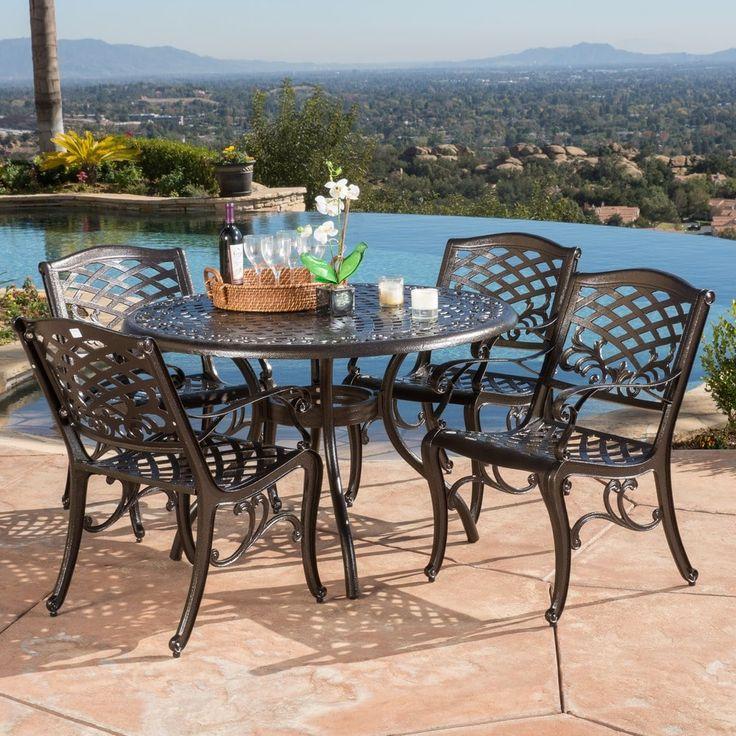 Sarasota Outdoor Kitchens: Hallandale Sarasota Cast Aluminum Bronze 5-piece Outdoor