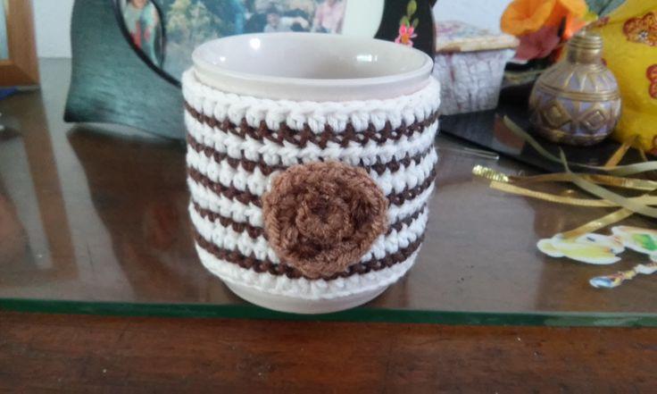 chocolate chips mug cozy