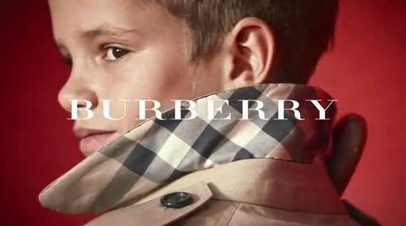 Romeo Beckham Makes His Modelling Debut with Burberry #4thofjuly trendhunter.com