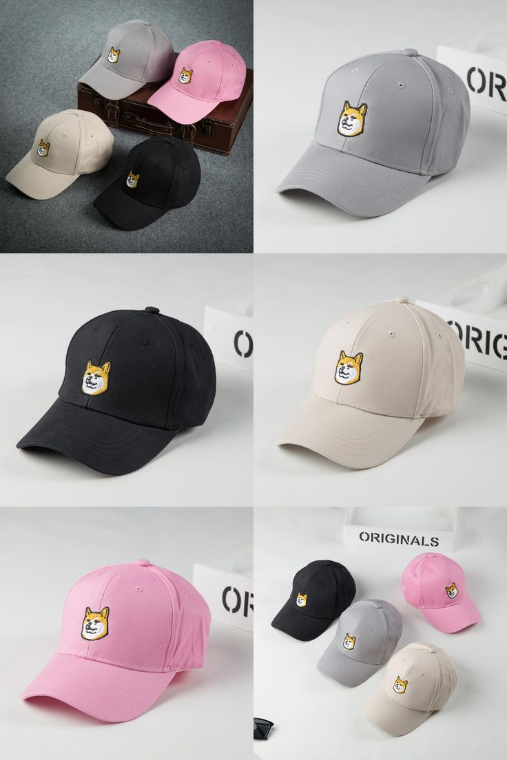 [Visit to Buy] 2017 New Fashion Funny Embroidery Dog Baseball Cap Hat Women Men Casual Trend Shiba Inu Snapback Hat Hip Hop Peaked Caps Gorras #Advertisement