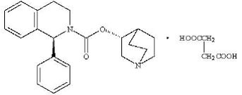 VESIcare (solifenacin succinate) Structural Formula Illustration