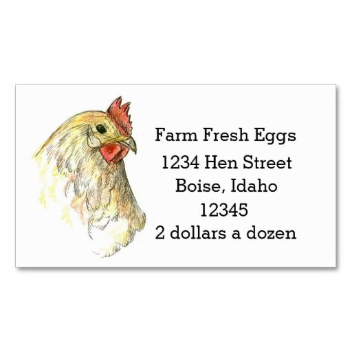 102 best farming business cards images on pinterest business farm fresh eggs chicken hen drawing business card reheart Image collections