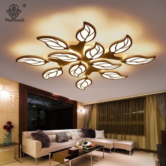 Ceiling Lights Modern Leaf Design Acrylic Led Simple Smart Lamps Plafon Gypsum