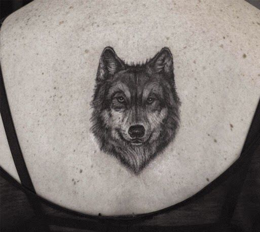 Classic and simple wolf tattoo                              …