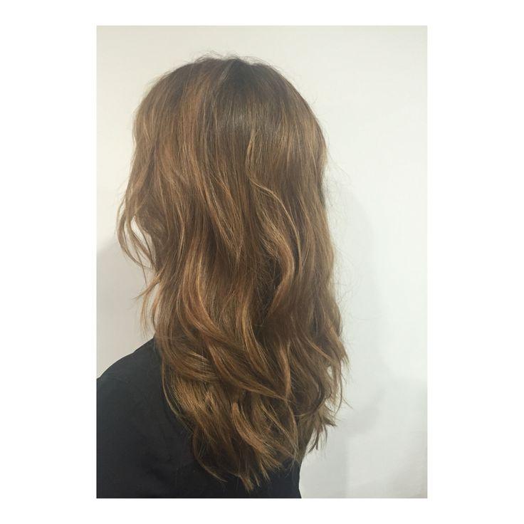 Bronzed long hair by Mia Doak