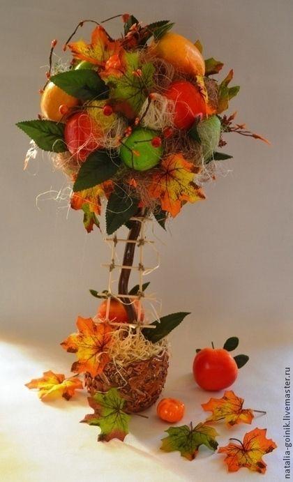 Топиарии ручной работы. Ярмарка Мастеров - ручная работа. Купить Осенний подарок. Handmade. Осень, подарок, подарок на любой случай