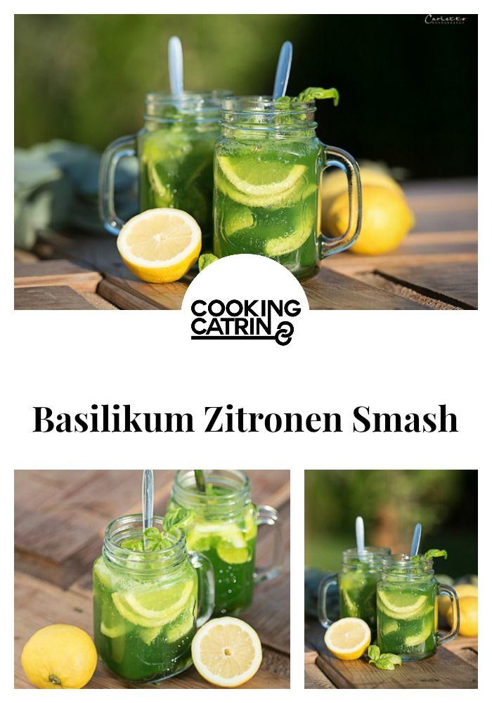 Basilikum, Zitrone, Sirup, Tonic, Smash, Drink, Getränk, Sommer, Erfrischung, refresh, summer, lemon, basil