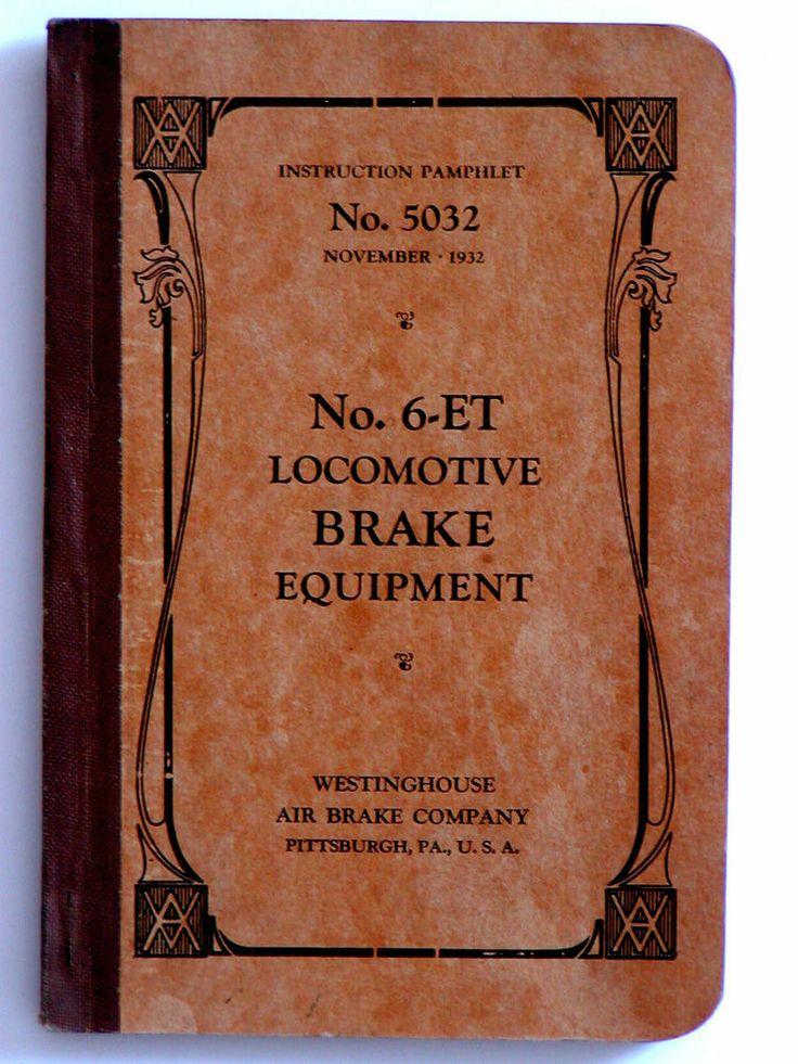 1932 No. 6ET BRAKE EQUIPMENT Manual 5032