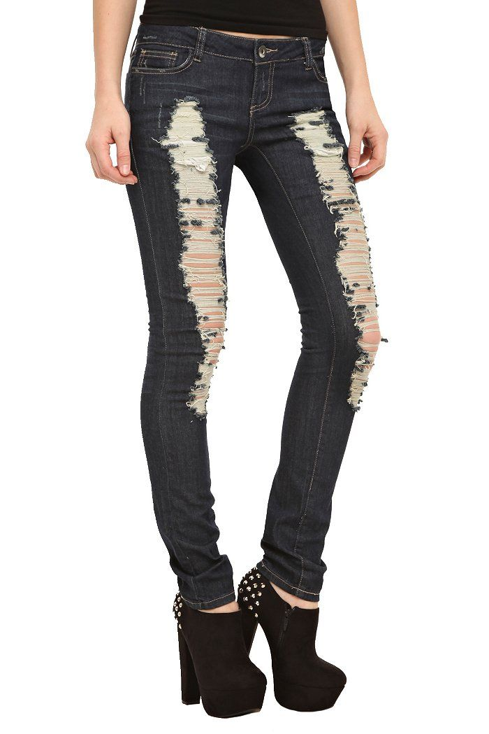 Clothing | Hot Topic  If my school allowed ripped jeans my life would be sooo much easier xD