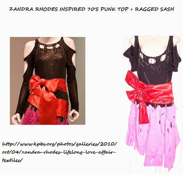 This is my Zandra Rhodes Punk Inspired top with Sash I love her style http://stressedoutvintage.blogspot.com.au/2014/05/punk-inspired-top-with-sash.html