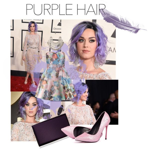 Purple by elif-eylul on Polyvore featuring güzellik, Natalie B, Judith Leiber and Chi Chi