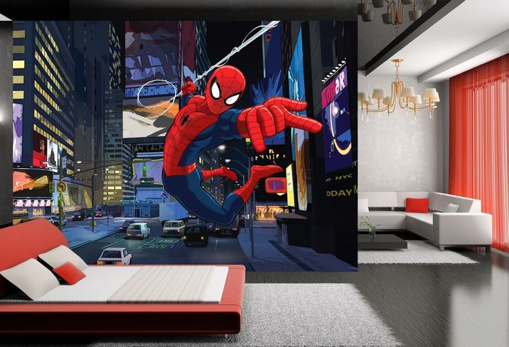 """WallandMore XXL The Amazing Spiderman Wall Decal Mural For boys Bedroom 141.5"""" W by 106"""" H - Mural xxl Spiderman Wall Mural - Kids Room - Boys Wall Murals - Playroom Decor - Bedroom Decals. WallandMore wall decal mural will transform the total look and atmosphere of your kid's room! General information: Made of Eco friendly and Non toxic materials Durable & top quality Special blue back paper Size by Inches: 141.5"""" W by 106"""" H 100% satisfaction guarantee We believe that with WallandMore's..."""
