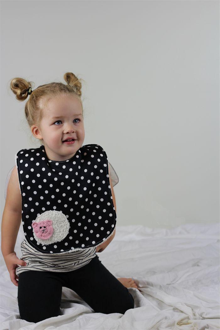 Black and white polkadot Baby and Toddler Bib