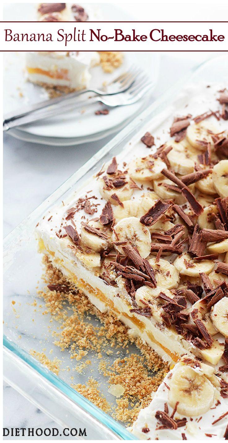 | Banana Split No-Bake Cheesecake |