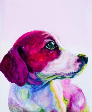 "Saatchi Online Artist: jenny Cottingham; Acrylic 2011 Painting ""Buddy"""