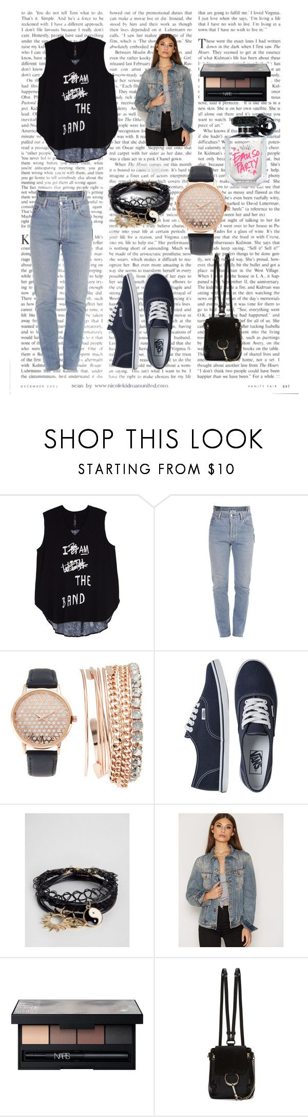 """""""New_post_13"""" by emra-cehajic ❤ liked on Polyvore featuring Melissa McCarthy Seven7, Vetements, Jessica Carlyle, Vans, ASOS, Nudie Jeans Co., NARS Cosmetics, Chloé, Victoria's Secret and tops"""