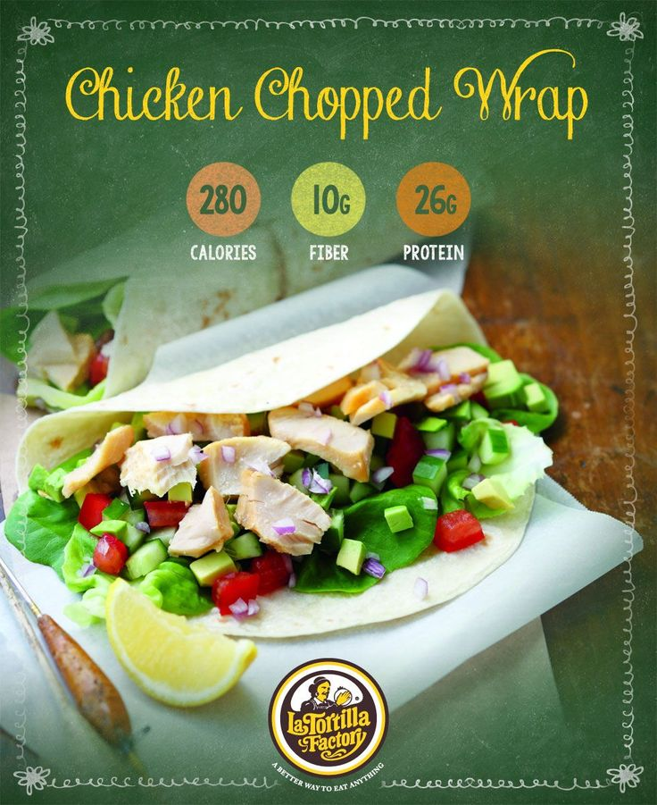 Skip the cafeteria lines and take matters into your own kitchen. This satisfying Chicken Chopped Wrap is incredibly easy to make–just chop, toss and roll for a delicious lunch or light dinner. #BackToBalance