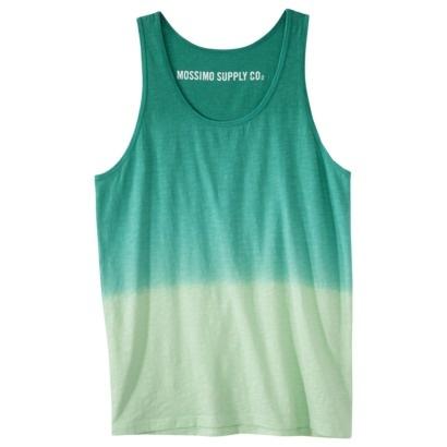 Mossimo Supply Co. Men's Tank Top - Green Dip Dye