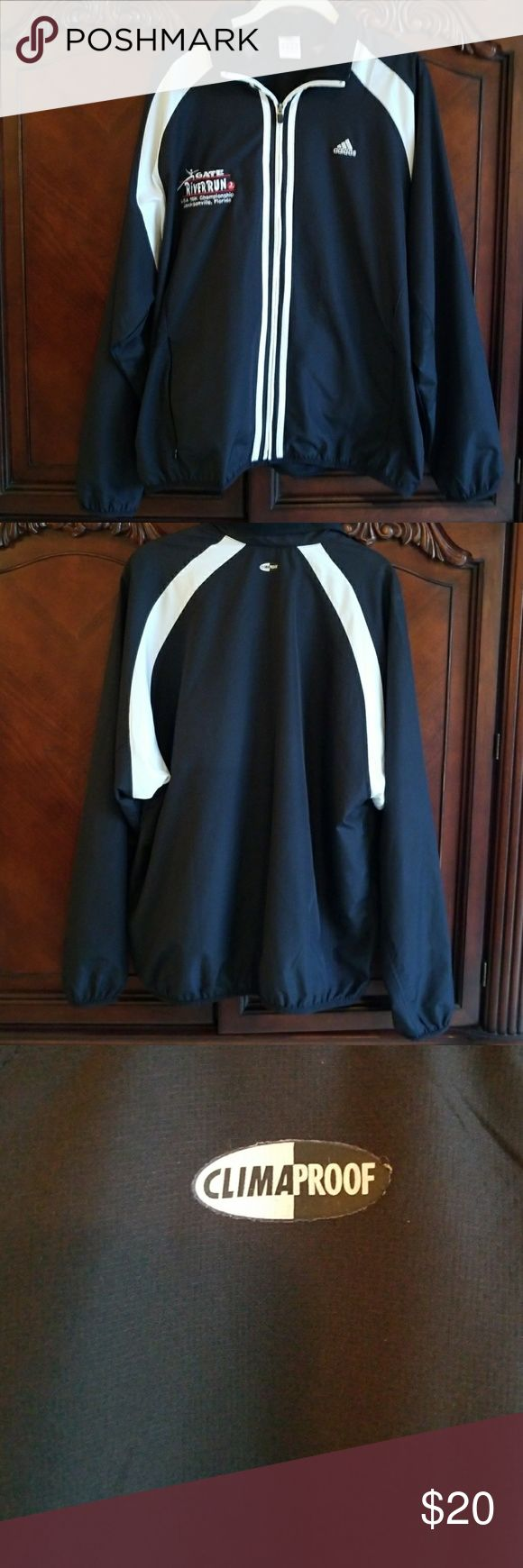 Men's Adidas Clima Proof Athletic Jacket Mens size medium but runs big. Probably worn once great condition! adidas Jackets & Coats Performance Jackets