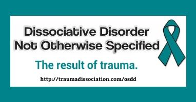 Other Specified Dissociative Disorder & DDNOS types, DSM 5 criteria and differences from Dissociative Identity Disorder. Also called Other dissociative [conversion] disorders F44.8 / F44.89  in the ICD manual. Info: http://traumadissociation.com/osdd.html#ddnos