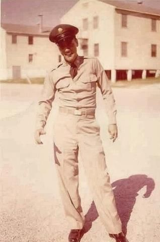 Elvis at Fort Hood Texas taken in the late 1950's. Shared by Paul Micelli  Shop at https://www.militaryonlineshopping.com today.