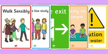 Safety Posters - safety, classroom safety, classroom rule, poster