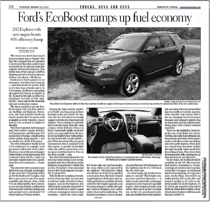 Fuel Economy Gov >> Ford's EcoBoost Ramps Up Fuel Economy | Assorted Articles | Pinterest | Fuel economy and Ford
