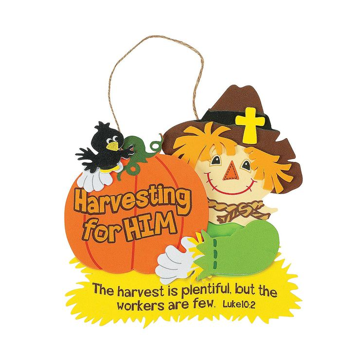 harvest inspirations bible verse sign craft kit orientaltradingcom - Religious Halloween Crafts