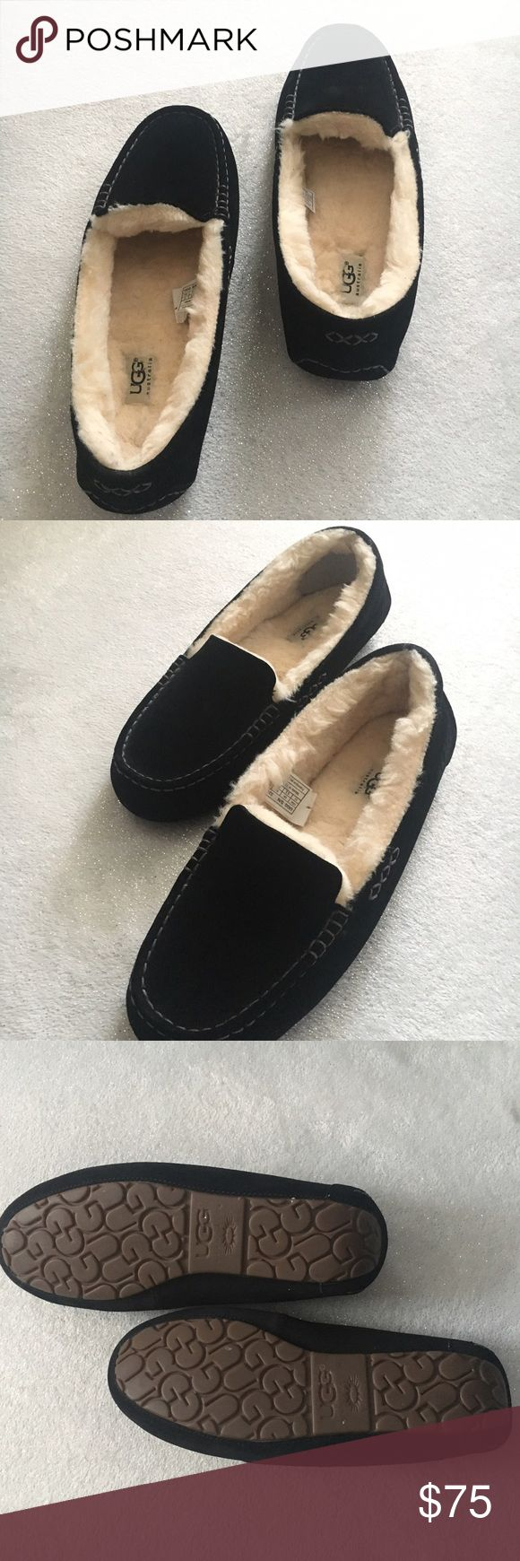 Men's UGG  slippers The right side slipper has a small stain/spot on it but not noticeable unless looking for it, other than that, they are in perfect condition. Please see last picture. UGG Shoes Slippers