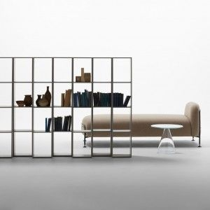 Massproductions' Endless shelving doubles as an adjustable room divider