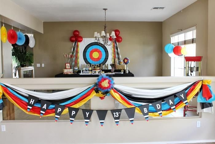 Adorable Archery Themed Birthday Party via Kara's Party Ideas Kara'sPartyIdeas.com