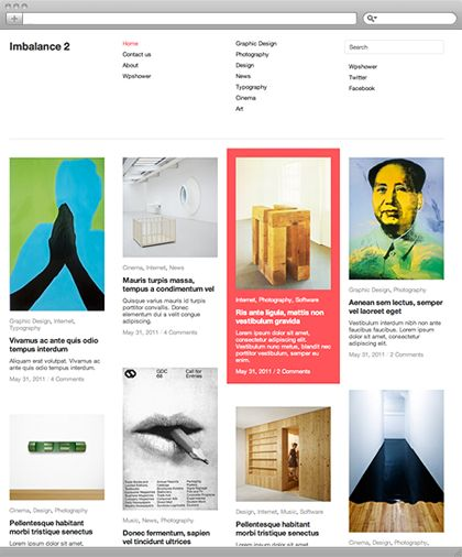 [wordpress theme] ed website to an attractive blog, portfolio or even online magazine. This free template designed in strict modern sty