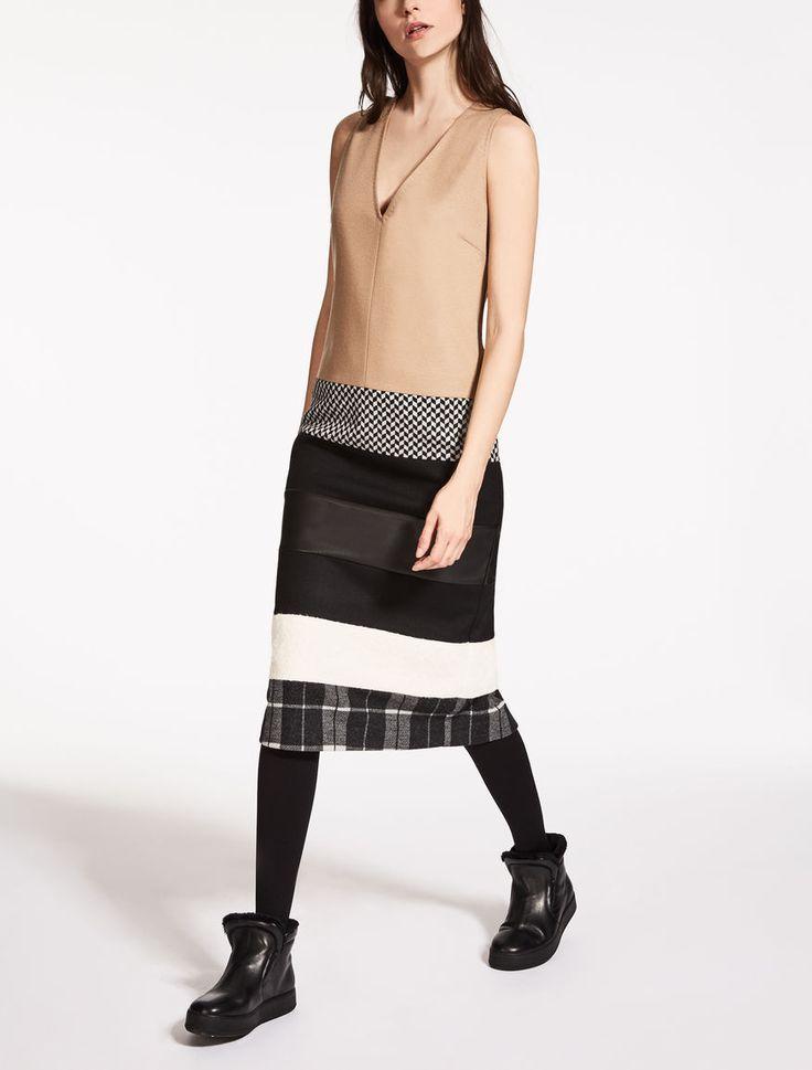 Max Mara FARSA camel: Wool jersey dress.