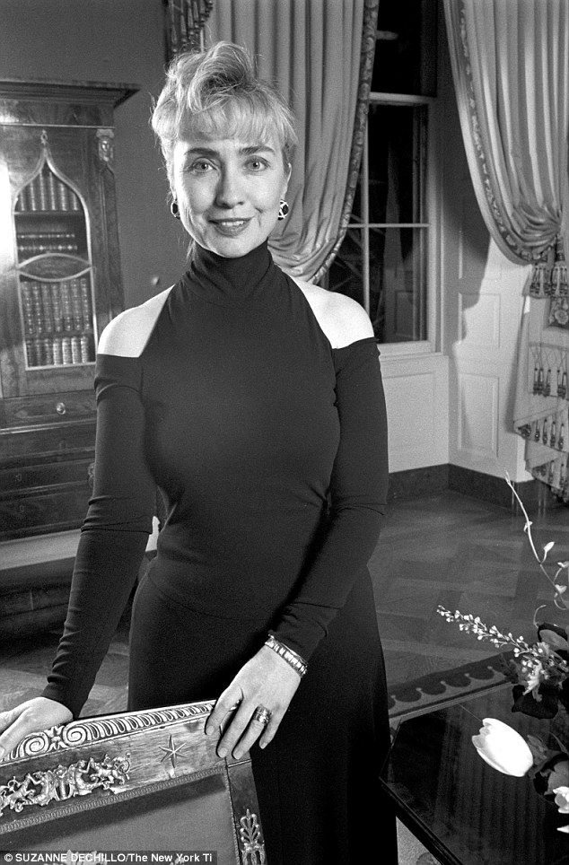 Stylish moment:  Hillary Clinton said in a new interview that this Donna Karan dress, which she wore to her first state dinner in 1993, was one of her favorite fashion moments