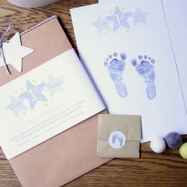 Cute Baby's First Christmas Keepsake print kit :)